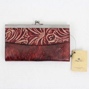 Patricia Nash Iron Leather Paola Frame Wallet
